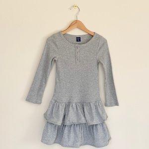 GAP Gray Ruffle Dress